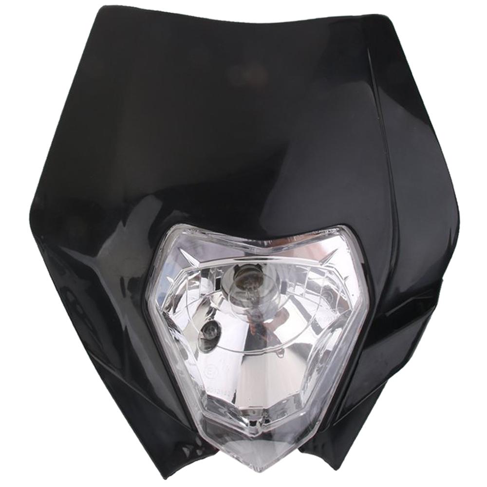 fourche plaque phare de moto route enduro universel pour yamaha ktm noir wt ebay. Black Bedroom Furniture Sets. Home Design Ideas