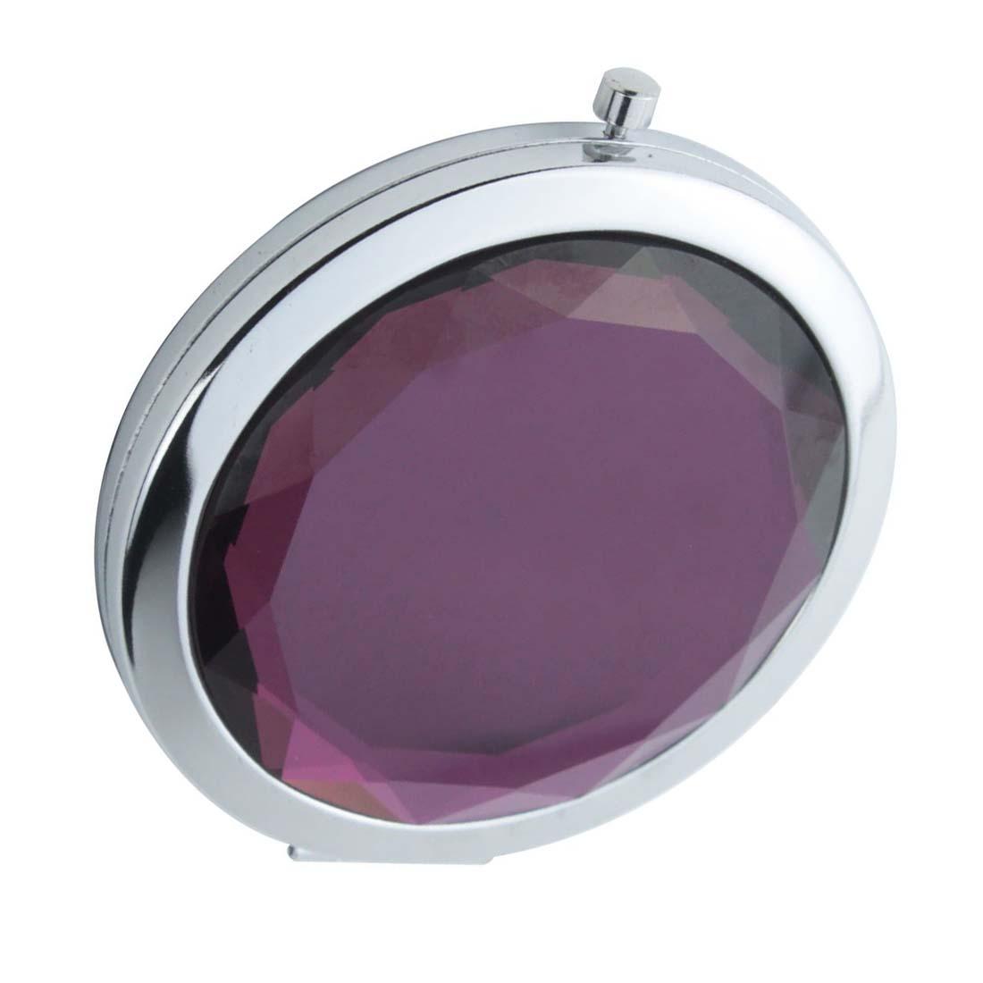 Travel compact pocket crystal folding makeup mirror hp ebay for Makeup mirror