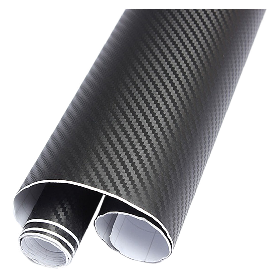 30x127 3d carbon fiber vinyl film wrap roll adhesive car sticker sheet black ws - Rouleau vinyl adhesif ...