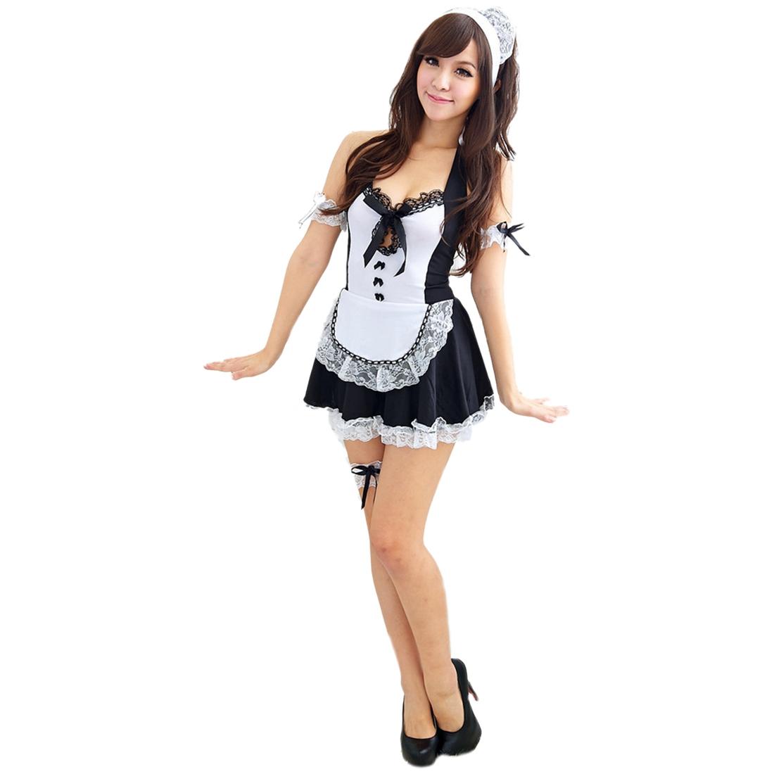 damen spitze suess dienstmaedchen kleidung anime cosplay kostueme uniform de ebay. Black Bedroom Furniture Sets. Home Design Ideas