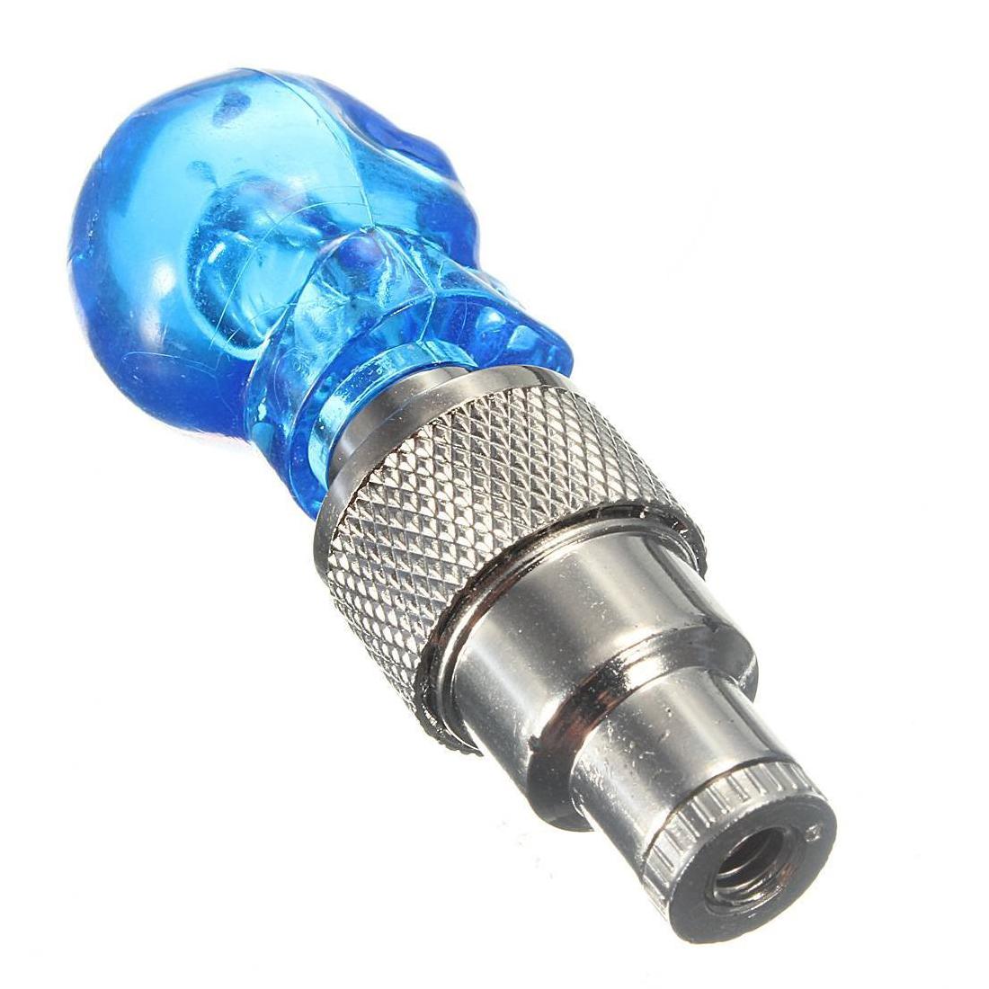 led licht ventilkappe speichenlicht fuer fahrrad auto bike felgen reifen blau et. Black Bedroom Furniture Sets. Home Design Ideas