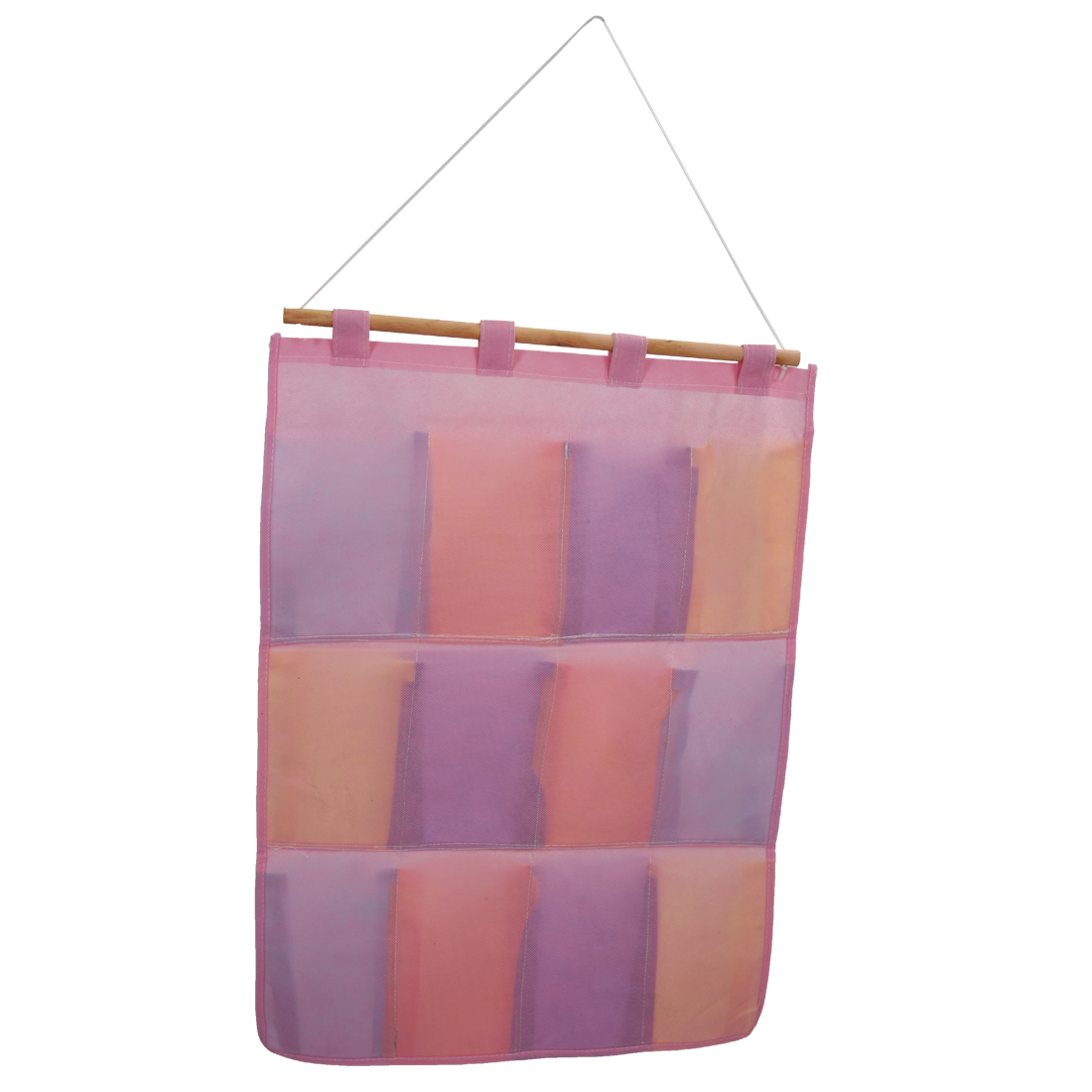 Colorful Wall Door Cloth Hanging Storage Bags Case Pocket