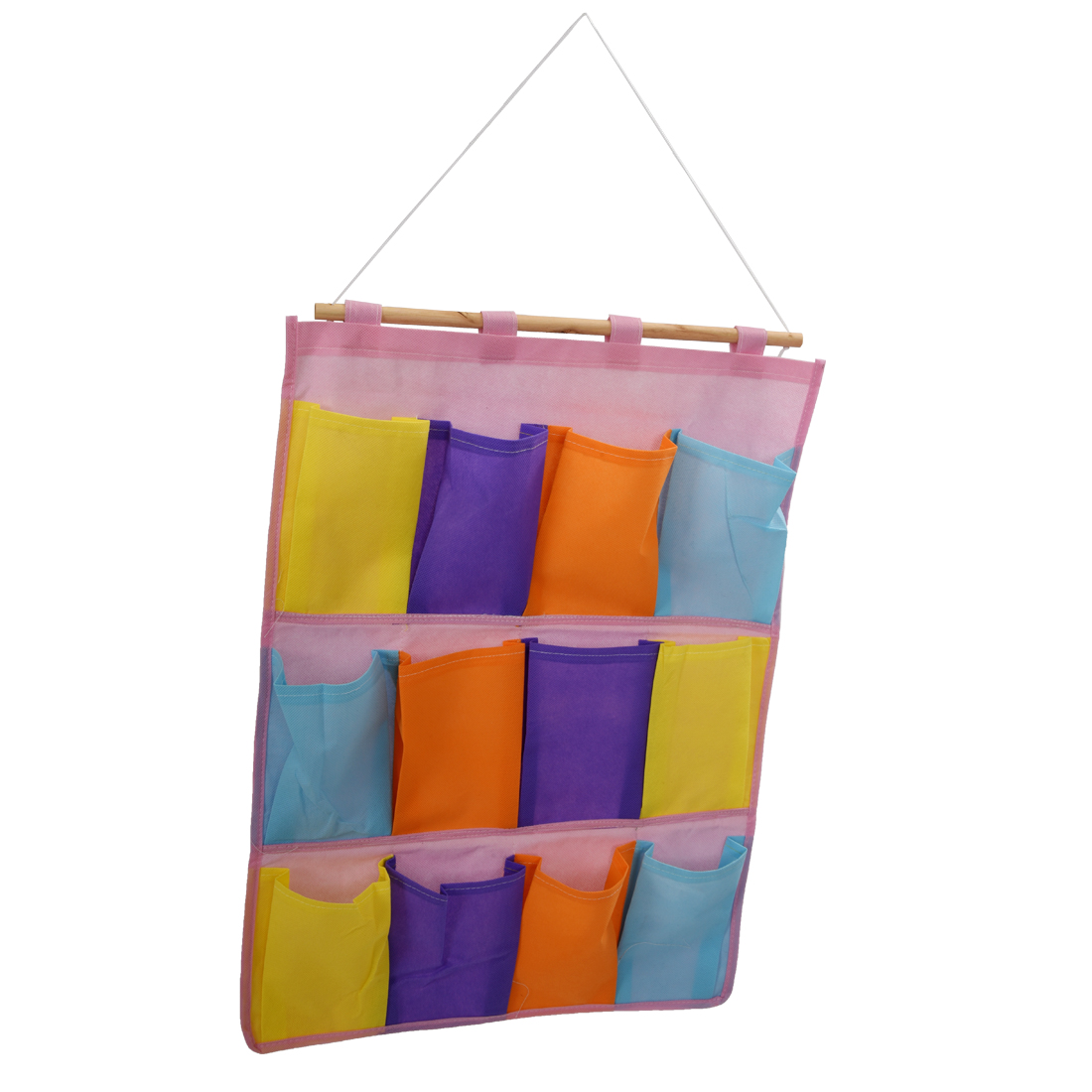 Colorful Wall Door Cloth Hanging Storage Bags Case Pocket ...