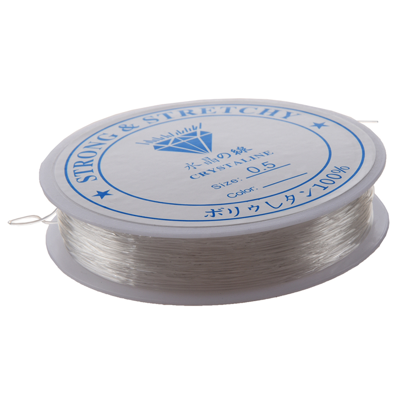 20 Meters Spool of Crystal Clear Strong Beading Thread Cord Wire Jewellery Z8N0