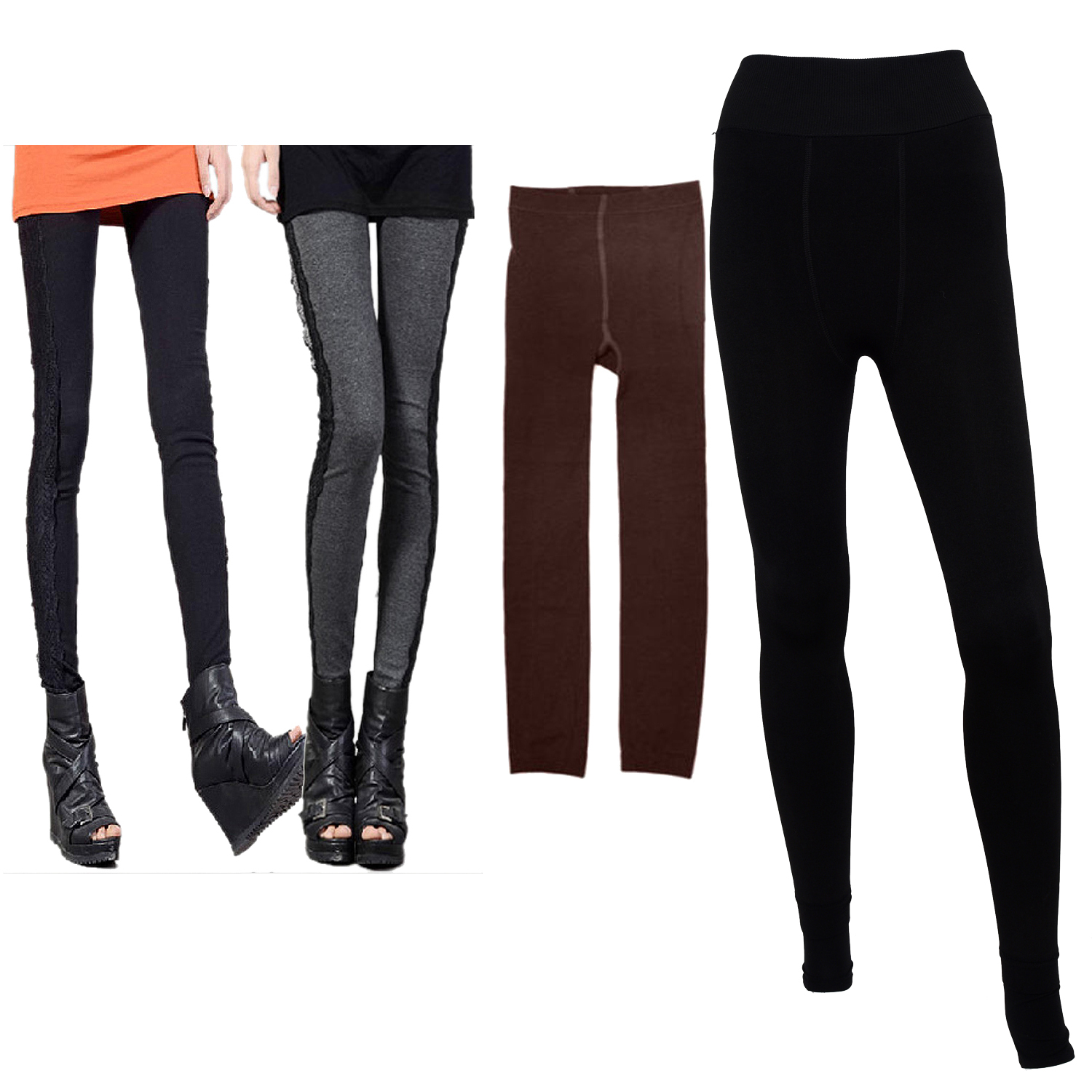 Women Ladies Warm Winter Stretchy Cashmere Thick Thermal ...