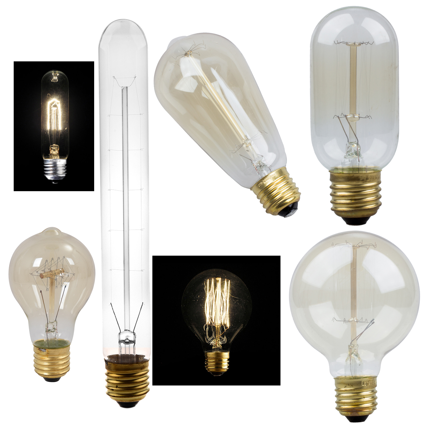 E27 40W Vintage Retro Filament Edison Tungsten Light Bulb ...