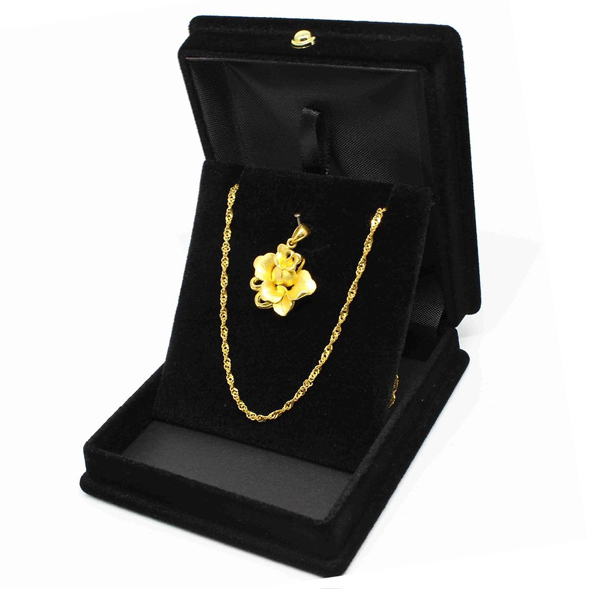 Velvet Necklace Chain Jewelry Display Storage Box Case