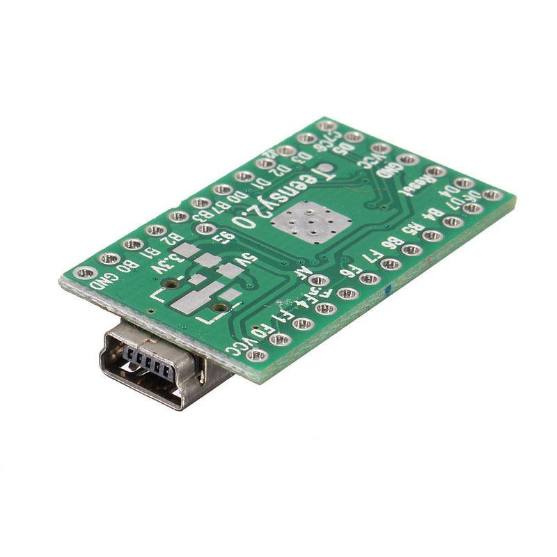 Teensy 2.0 USB keyboard mouse AVR arduino board mega32u4 U disk experiment E8 8-Bit AVR Processor 16 MHz (ATMEGA32U4)...