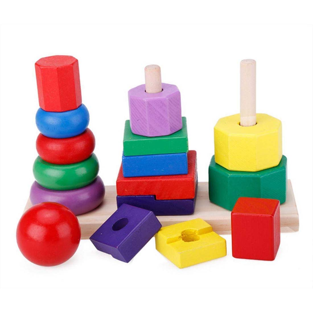 2X(Children Baby Toys Kids Building Blocks Geometric ...