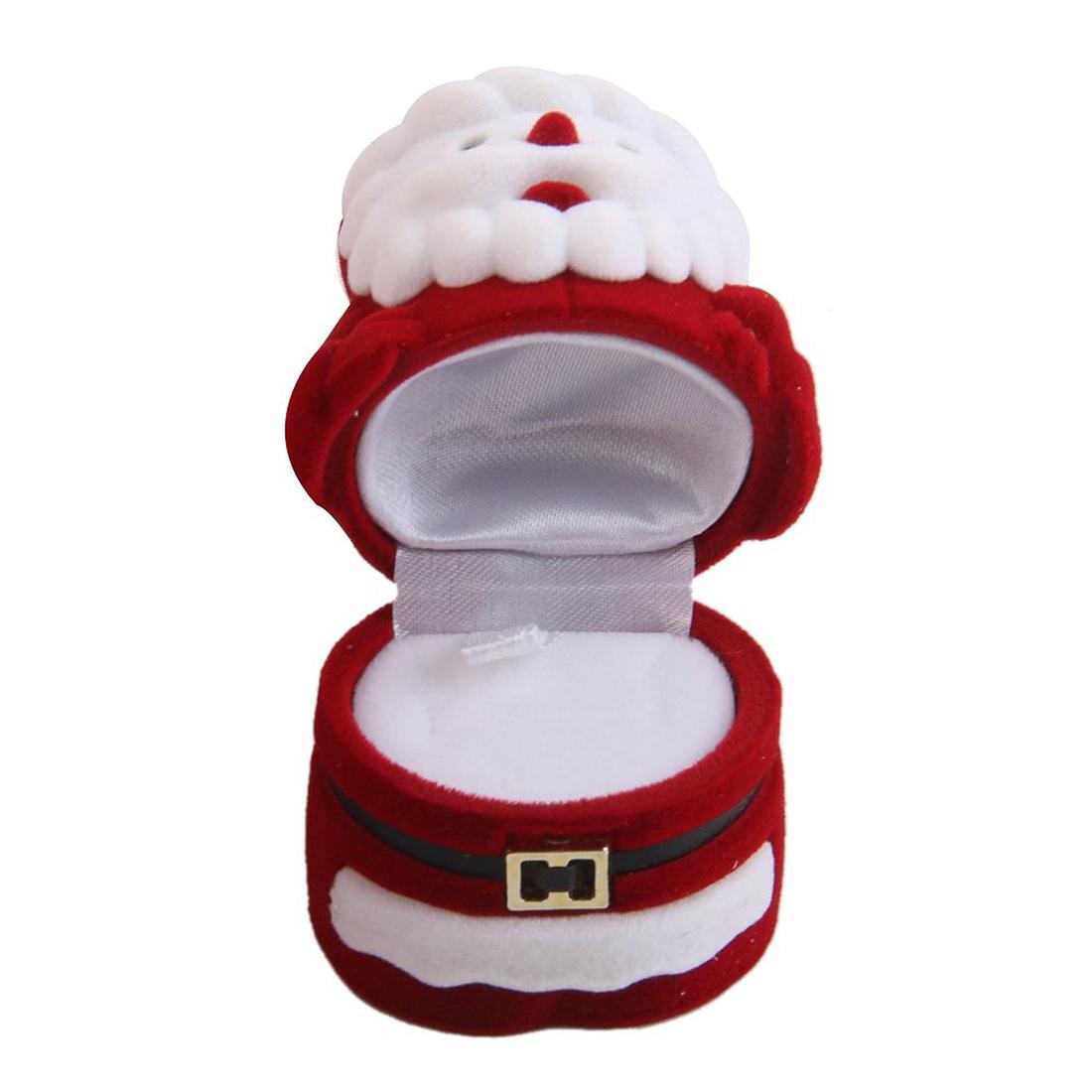 boite en velours en forme de pere boite de rangement cadeau noel rouge et blanc ebay. Black Bedroom Furniture Sets. Home Design Ideas