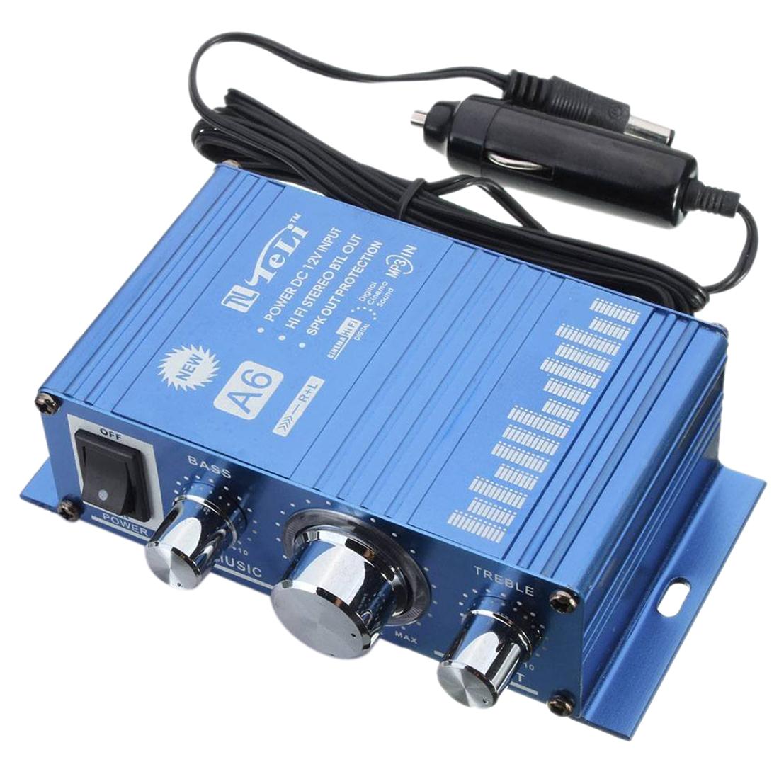 teli auto mini hifi stereo audio verstaerker amplifier roller auto kfz pkw v1n4 ebay. Black Bedroom Furniture Sets. Home Design Ideas