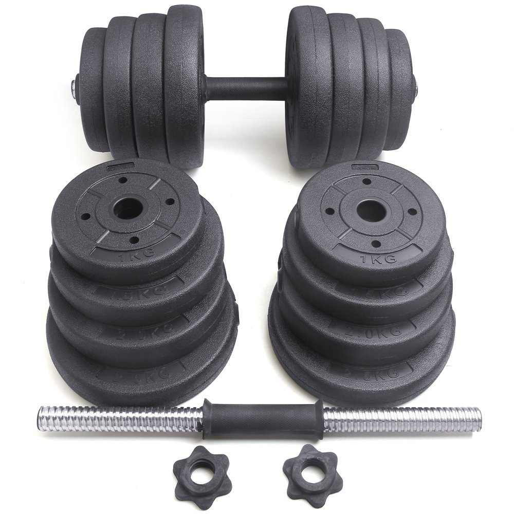 Exercise Barbell Dumbbell: 2x Dumbbell Free Weights Dumbells Set Gym Bench Barbell