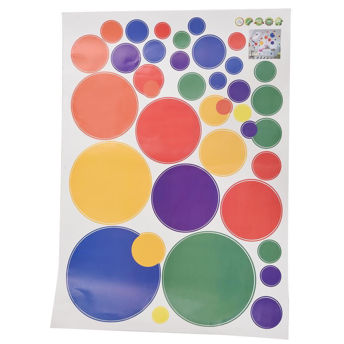 Autocollants muraux amovibles avec cercle colore for Autocollants muraux