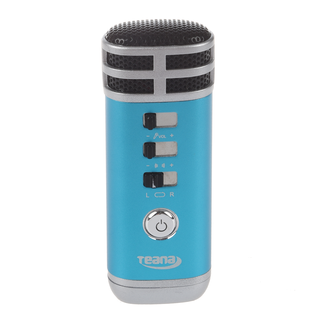 Teana Mini 3.5mm Microphone Karaoke Player for PC/Phone/PSP/MP4/MP3 Blue Z2W7