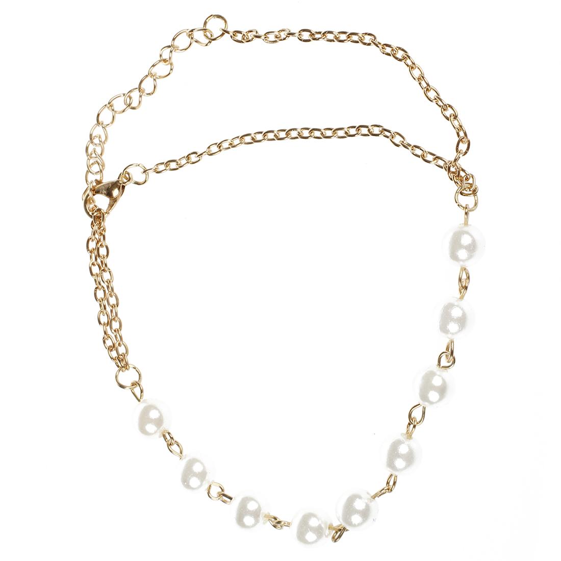 frauen perlen armband armband mit angebrachtem ketten ring j2t9 d7a3 q3y1 ebay. Black Bedroom Furniture Sets. Home Design Ideas