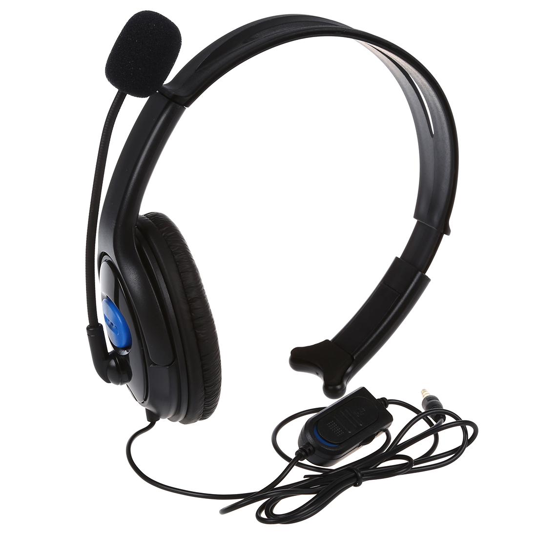 Black 3.5mm Jack Connector PS4 Chat Headset with ...