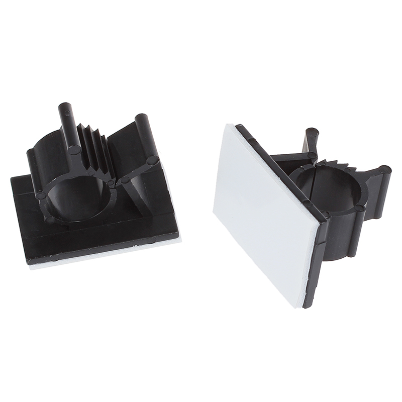 25 Pcs Black Adhesive Backed Nylon Wire Adjustable Cable Clips ...
