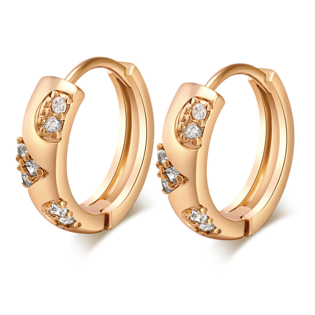 Perfect  18K Gold Filled Womens Small Elegant Hoop Earrings Wedding  EBay