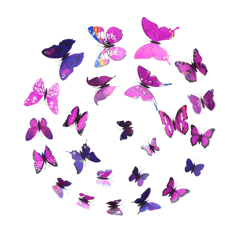 art design decal wall stickers 3d butterfly wall stickers pink and purple butterfly wall stickers by chameleon wall