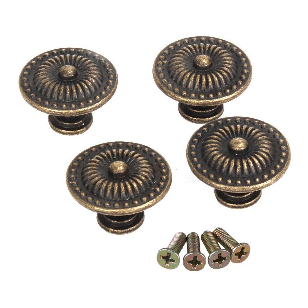 dekorative vintage rund moebelknoepfe bronze schranktuer schublade packung von 4 ebay. Black Bedroom Furniture Sets. Home Design Ideas