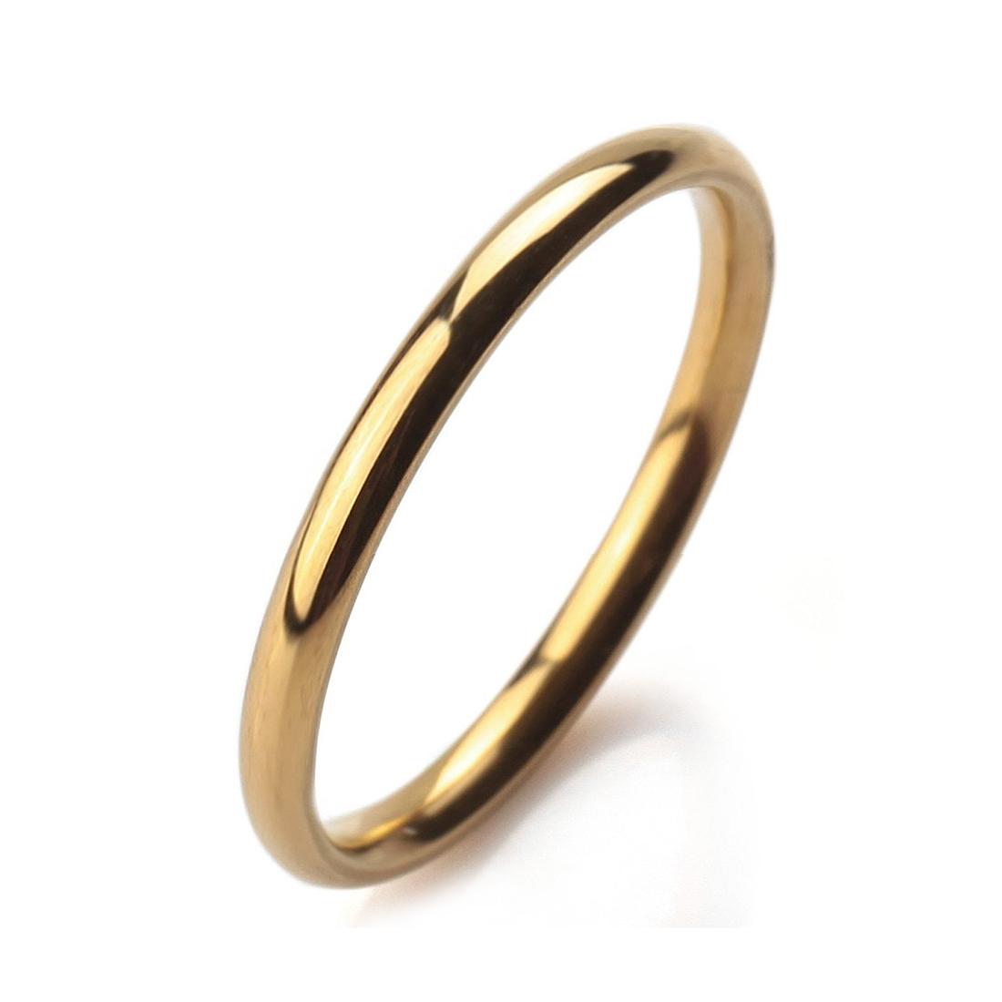 breite 2mm edelstahl ring band gold hochzeit herren damen. Black Bedroom Furniture Sets. Home Design Ideas