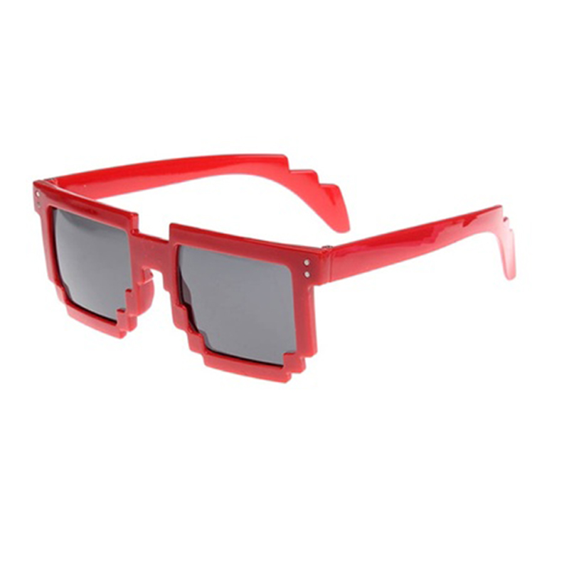 Retro Novelty Unisex Cool Pixel Glasses Pixelated Style