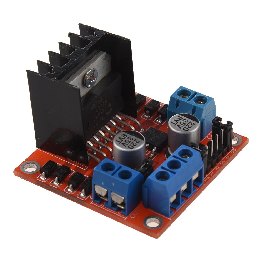 Dc stepper motor drive controller board module l298n ad ebay for Dc motor servo controller