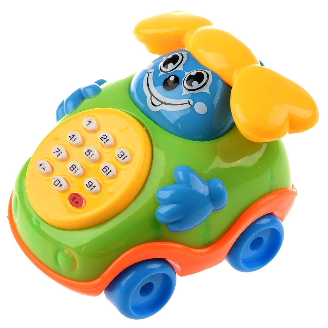 Baby Toy Car : Child puzzle cartoon music phone toy car belt baby toys