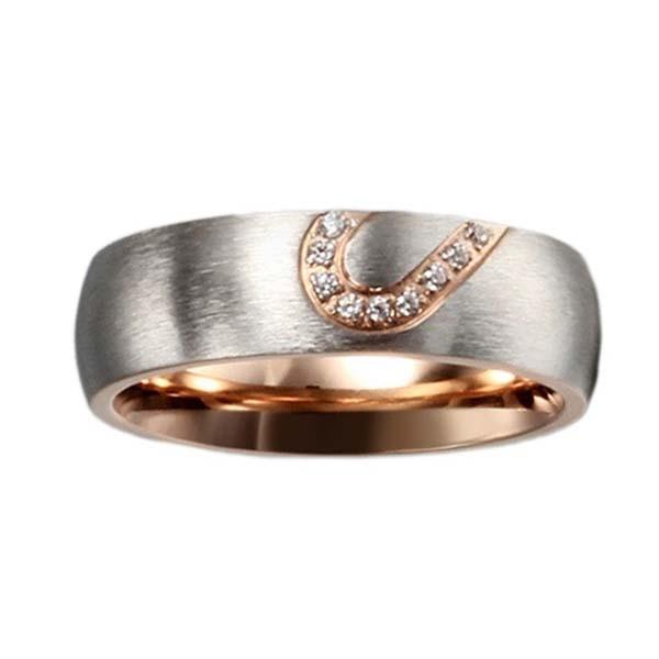 Rose Gold South Korean Heart Shaped Diamond Couple Rings ...