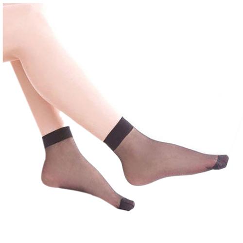 6 Pairs Ultra-thin Elastic Silky Short Silk Stockings Women Ankle Socks K5A8