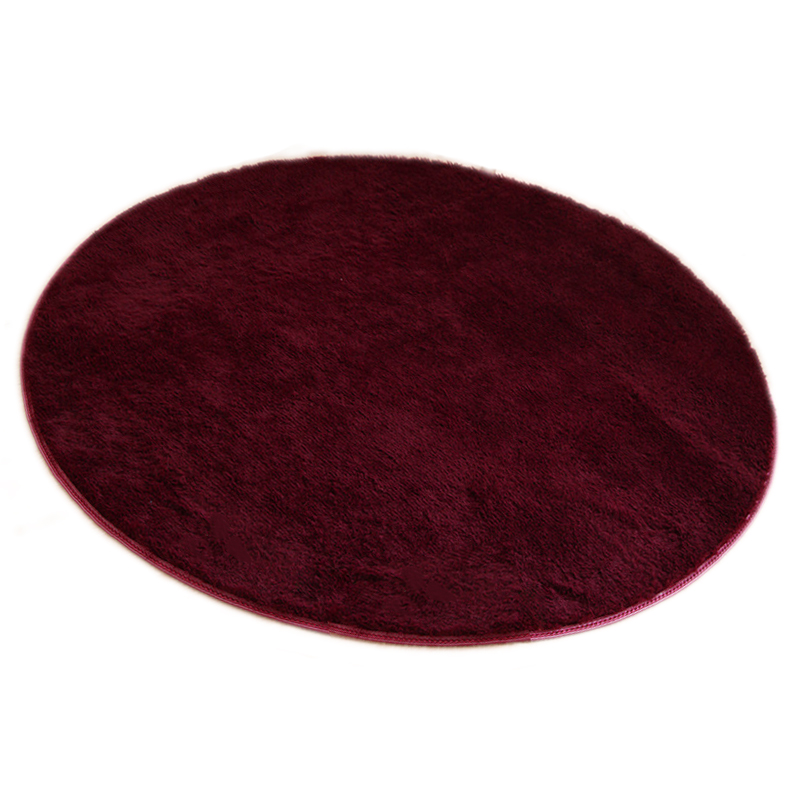 80 80cm Floor Mats Modern Shaggy Round Rugs And Carpets
