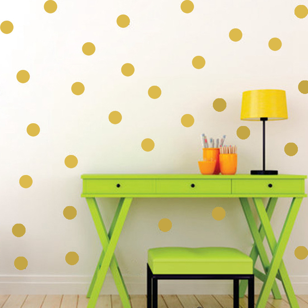 Polka dots wall sticker baby nursery stickers kids for Baby mural stickers