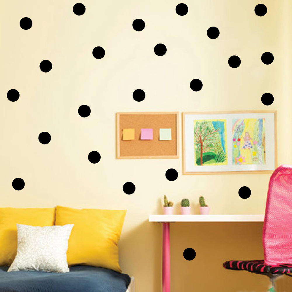 Polka dots wall sticker baby nursery stickers kids for Polka dot wall decals for kids rooms