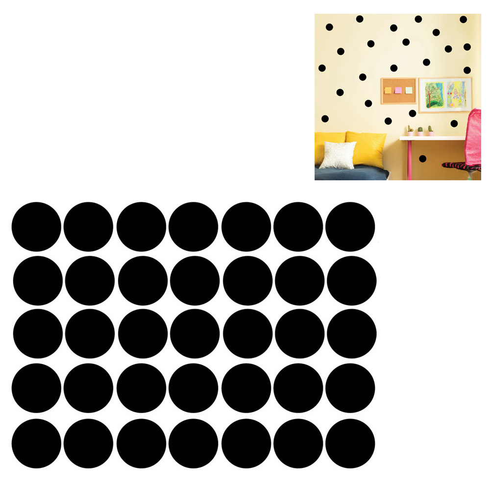 polka dots wall sticker baby nursery stickers kids children wall decals home t1. Black Bedroom Furniture Sets. Home Design Ideas