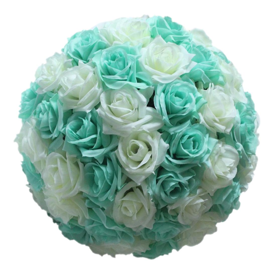 Wedding Decorations Artificial Rose Silk Flower Ball Centerpieces Mint O4K4