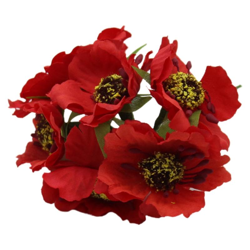 High Quality Silk Poppies Camellia 5cm 60pcs//lot Artificial Flowers Corn Po A1O2