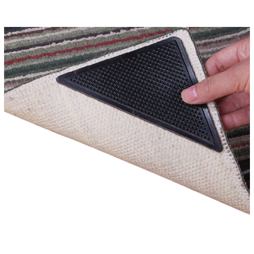100% Brand New And High Quality Anti Skid Rubber Floor Carpet Mat Rug  Gripper Stopper Sticker. Triangle Shaped Appearance Design, Simple And  Practical.