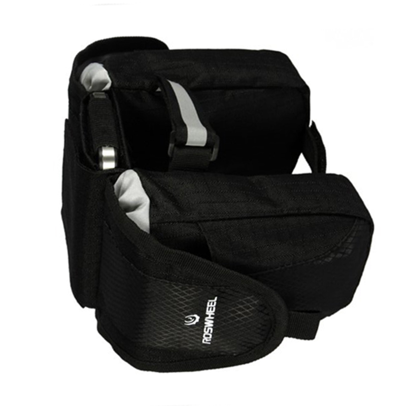 ROSWHEEL-Water-amp-Wood-Bicycle-Frame-Double-Side-Pannier-Front-Top-Bag-Black-HY
