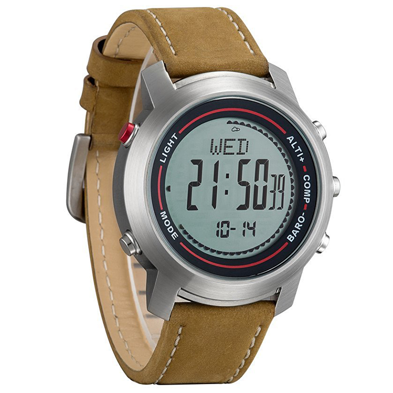 Spovan outdoor digital watches leather band mg 01 sports watch barometer compass ebay for Outdoor watches