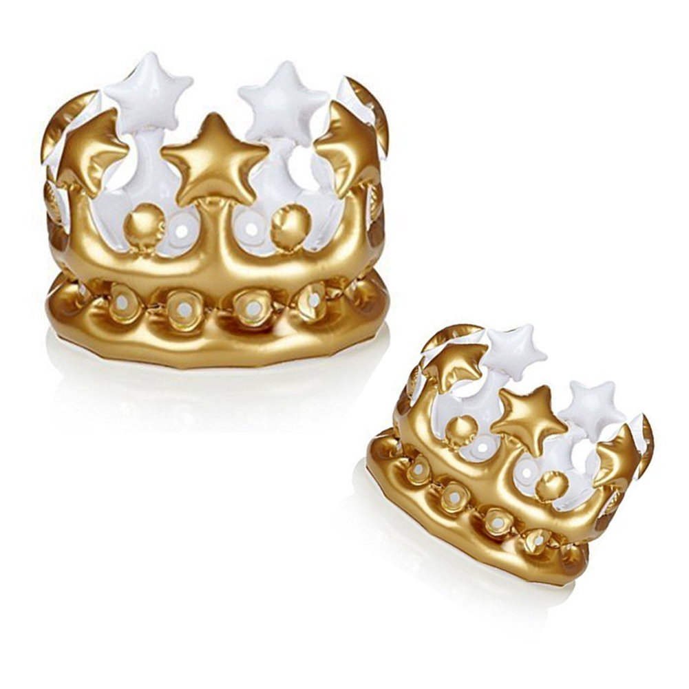 Inflatable Gold Crown King Queen The Day Costume Party