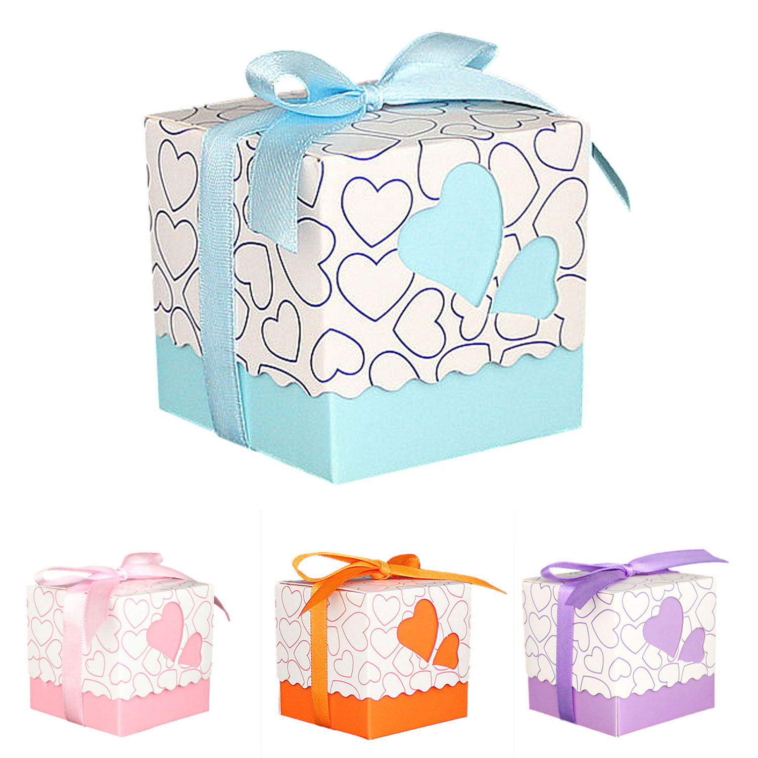 30pcs Love Heart Small Laser Cut Gift Candy Boxes Wedding Party ...