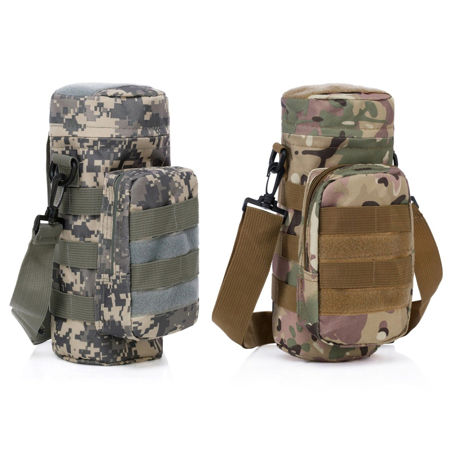 Outdoor Militray MolleZipper Water Bottle Pouch Bag Carrier Hiking Q3C7