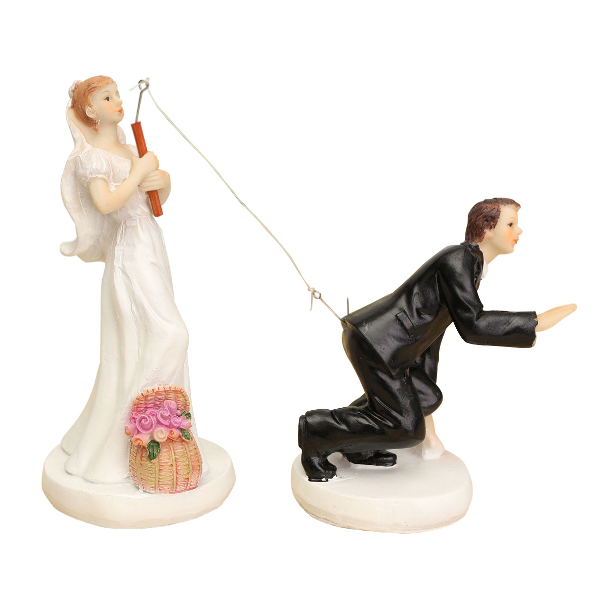 FUNNY ROMANTIC WEDDING CAKE TOPPER FIGURE BRIDE GROOM ...