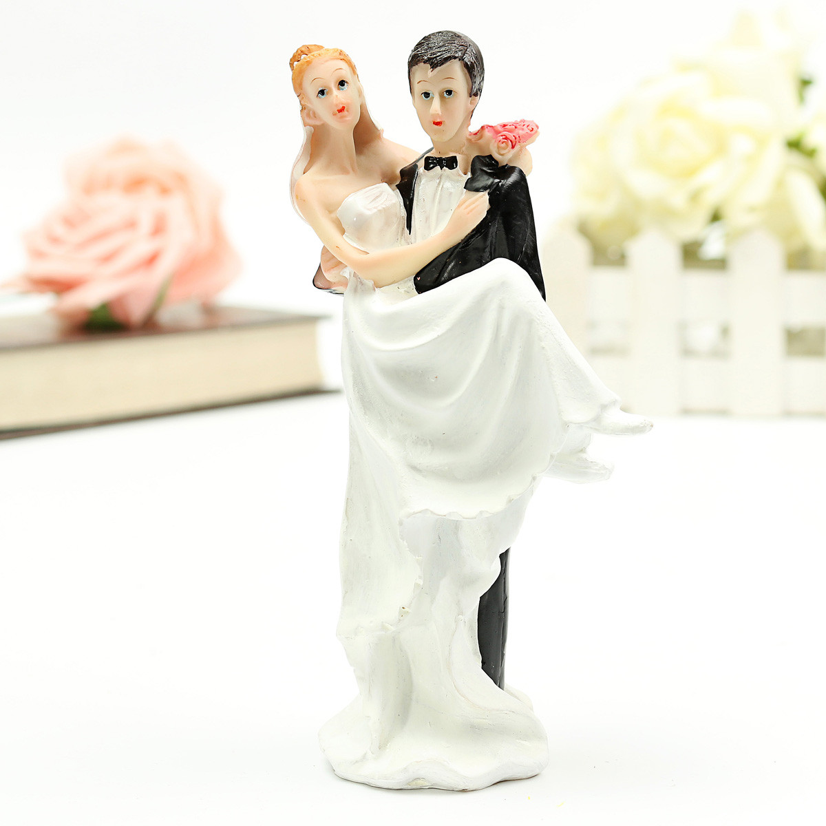 Bride Wedding Cake Topper: FUNNY ROMANTIC WEDDING CAKE TOPPER FIGURE BRIDE GROOM