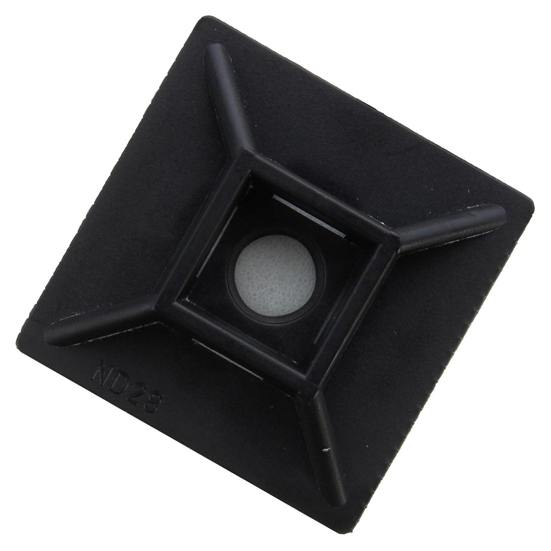 100x kabelbinder klebesockel sockel binder selbstklebend kabelhalter 19x19mm de ebay. Black Bedroom Furniture Sets. Home Design Ideas