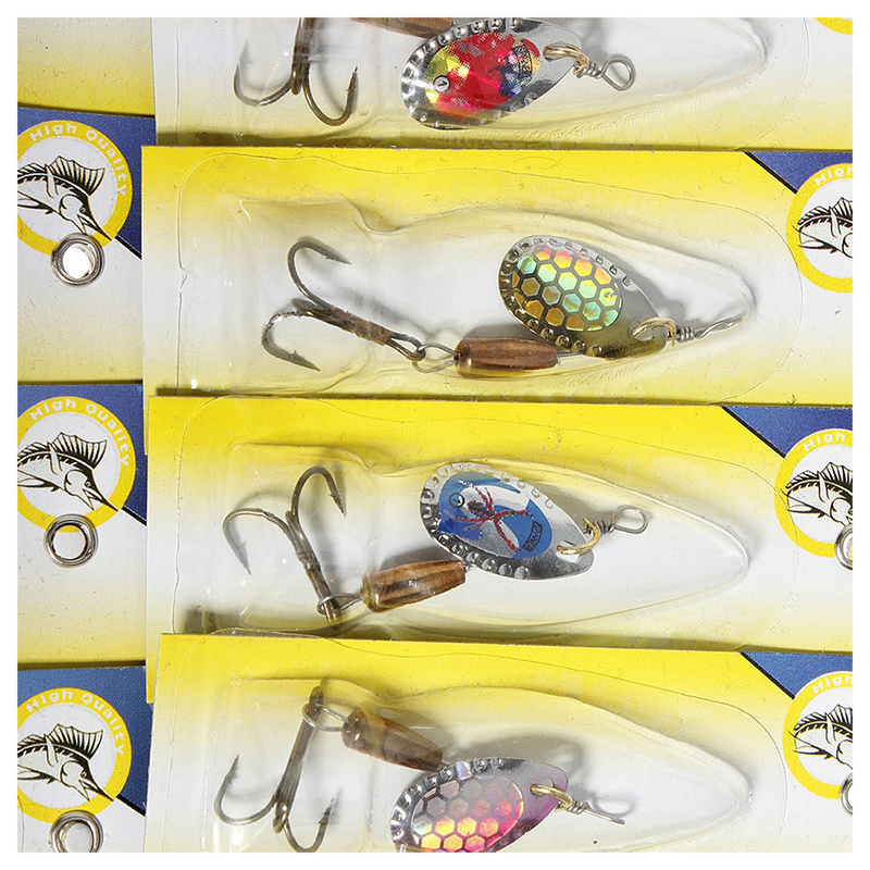 30X Spinner Set Angelzubehoer Angelset Blinker Spoon Tackle Zander Barsch H N5J3