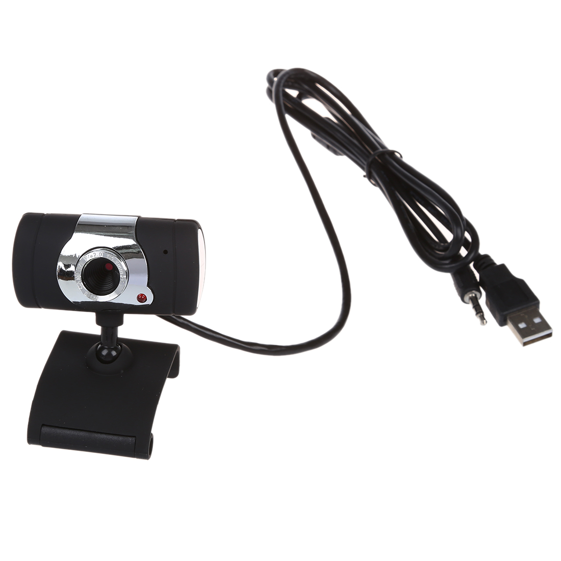 usb 2 0 hd webcam camera with microphone for pc laptop swivel black new ebay. Black Bedroom Furniture Sets. Home Design Ideas