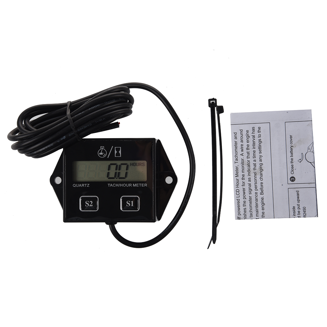Honda Atv Hour Meter : Spark plugs engine digital tach hour meter tachometer