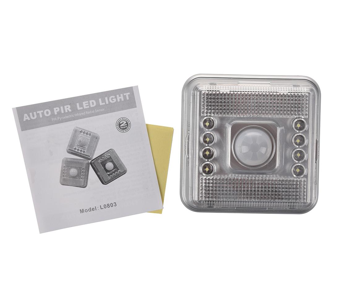lampe detecteur de mouvement pir infrarouge 8 led blanc a4g1 ebay. Black Bedroom Furniture Sets. Home Design Ideas