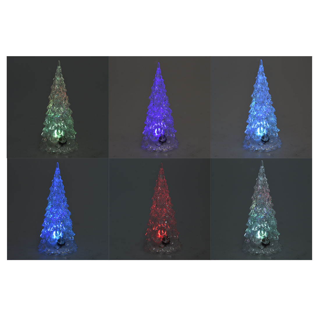 z2g3 10x rgb colorful mini cute led christmas tree night. Black Bedroom Furniture Sets. Home Design Ideas